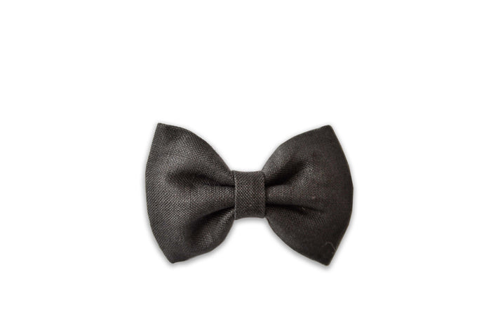 GEORGIE SINGLE BOW CLIP - GRAVEL LINEN