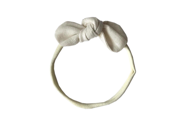 ANNA BOW ELASTIC- NATURAL LINEN