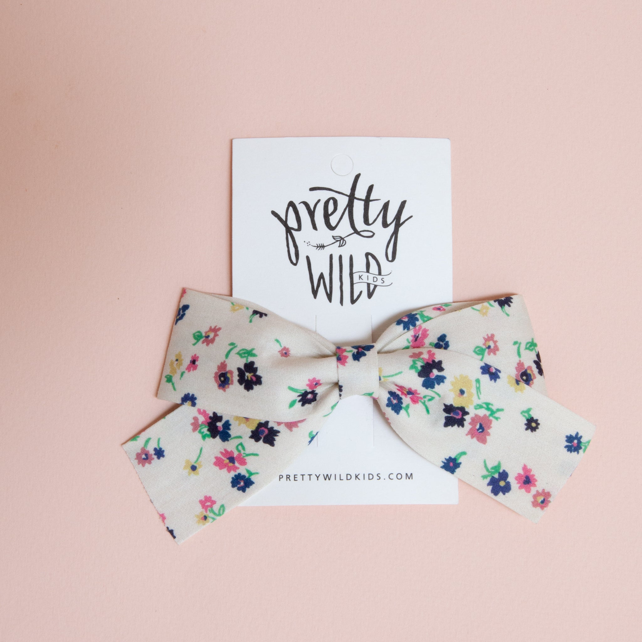 Belle Bow Liberty Floral Cream