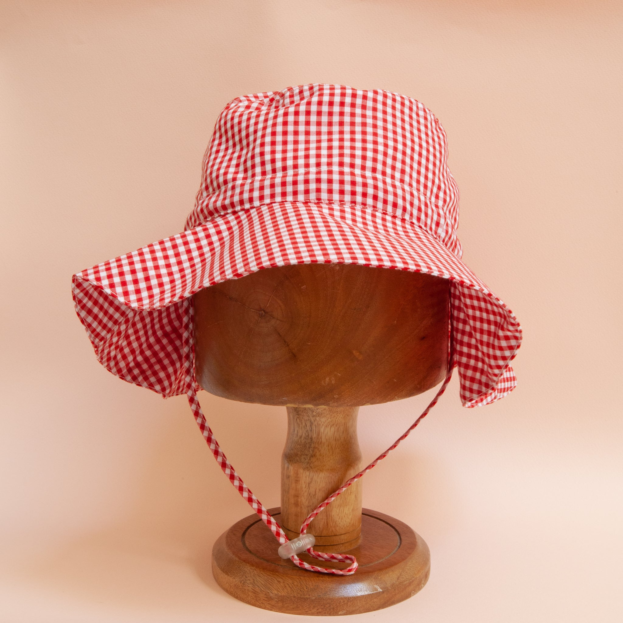 Charlie Bucket Hat Red Gingham