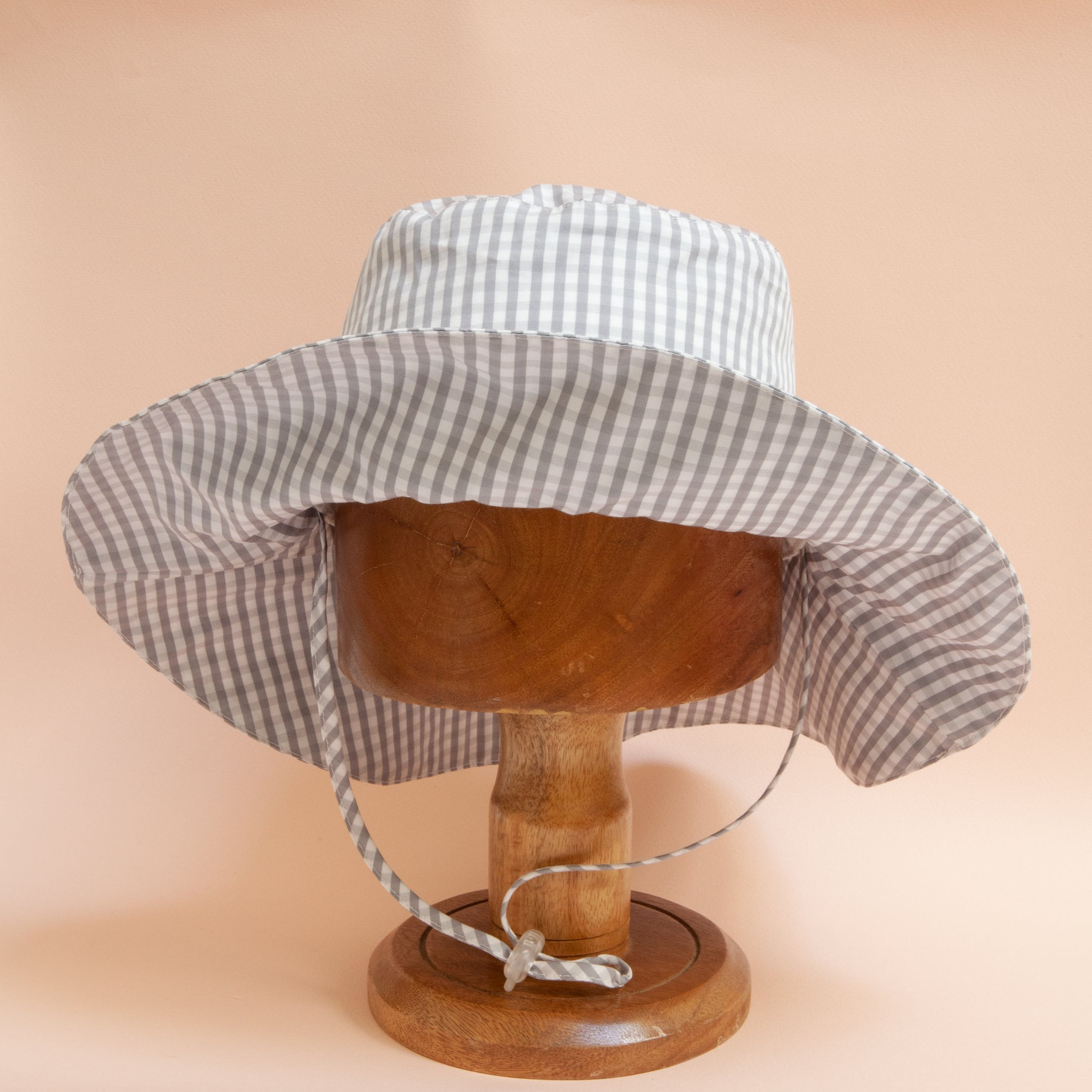 Charlie Bucket Hat Stone Check