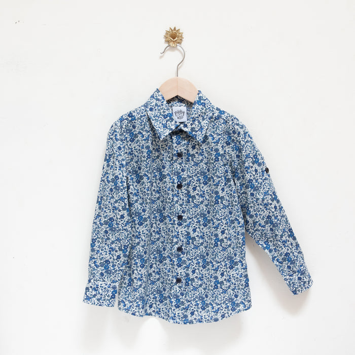 Christian Shirt Dark Blue Floral