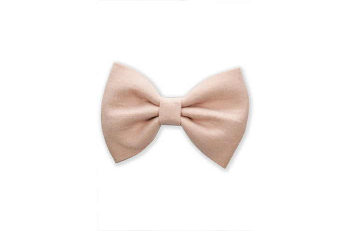 GEORGIE SINGLE BOW CLIP - LIGHT PINK