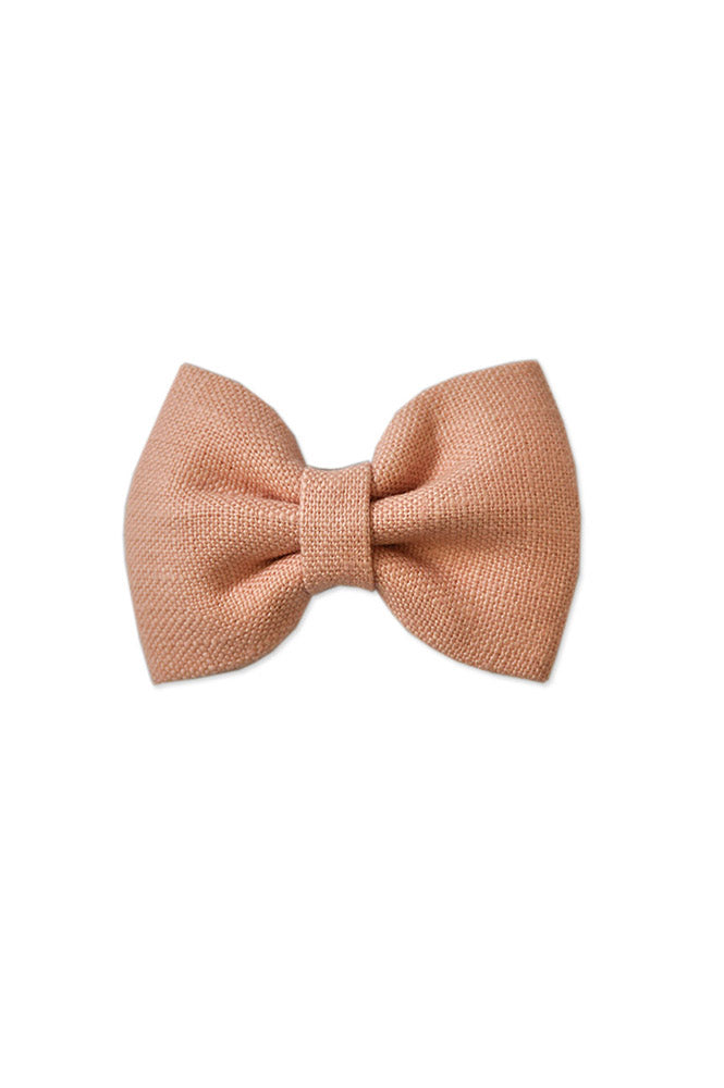 Georgie Bow Blush Linen