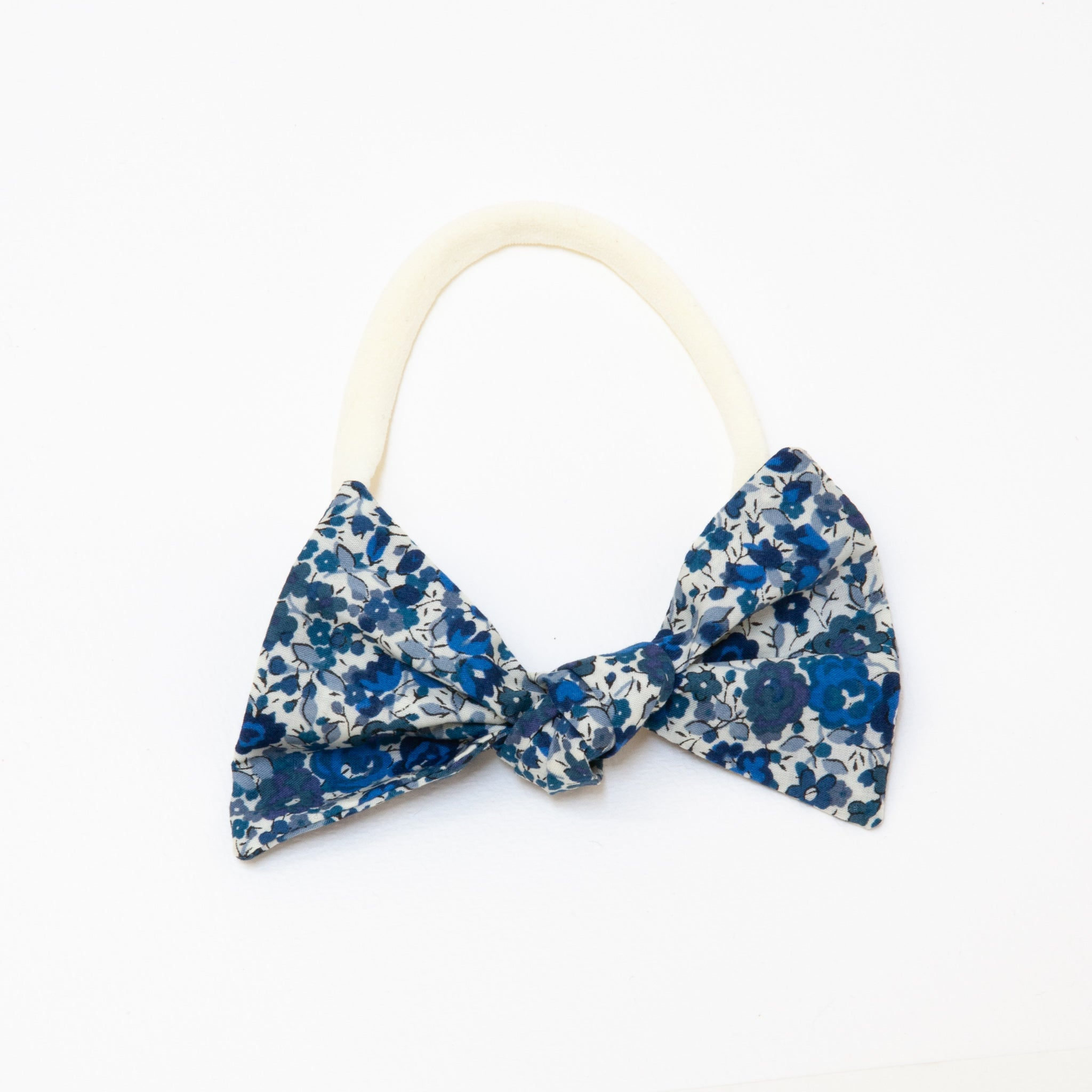 Lucille Headband Dark Blue Floral