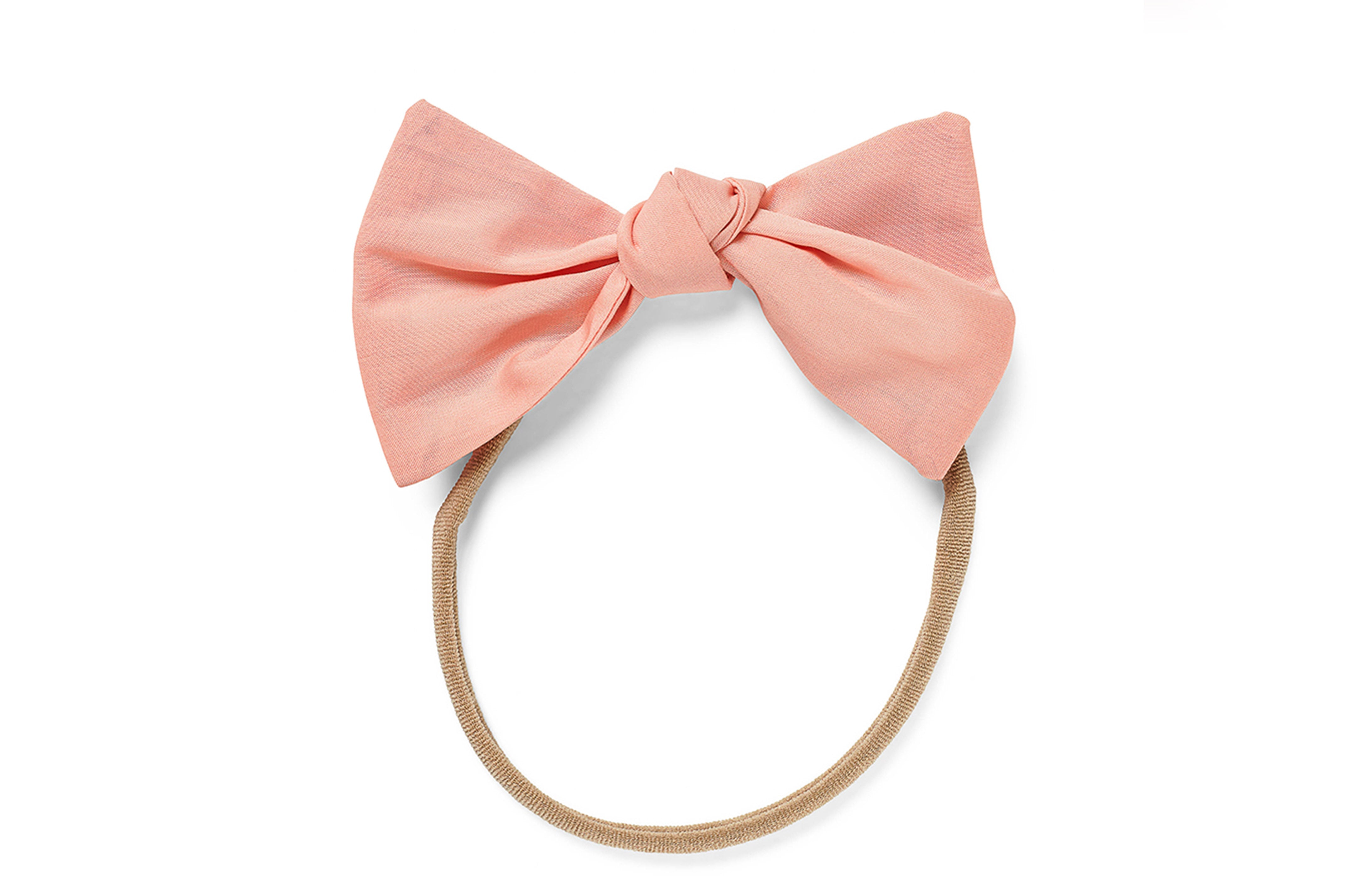 Lucille Baby Elastic Large Bow Peach