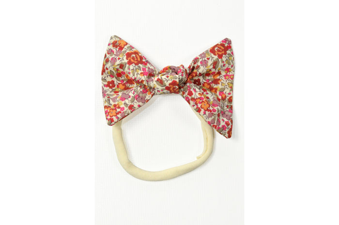 LUCILLE ELASTIC BOW - MALLOW FLOWER