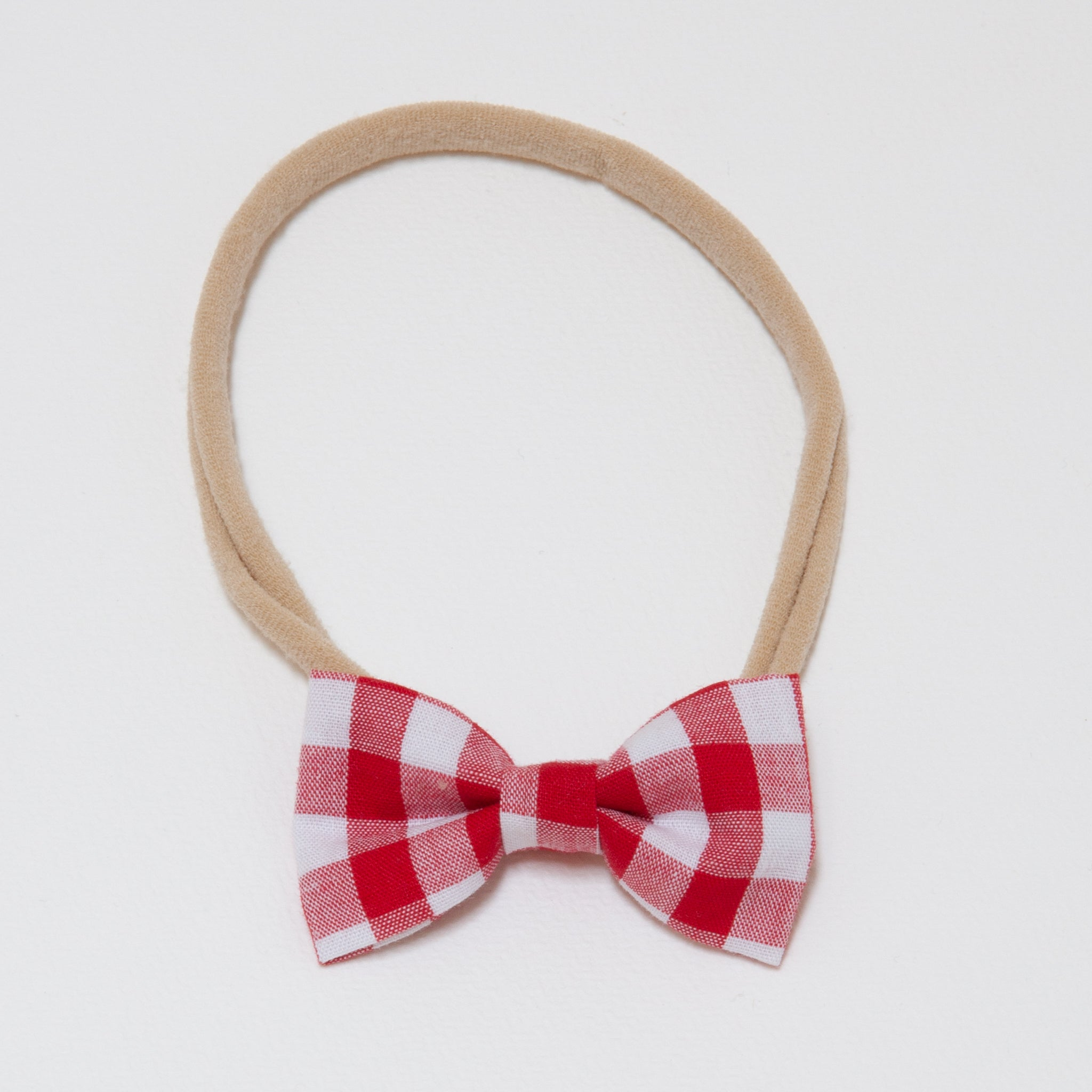 Minnie Headband Red Check