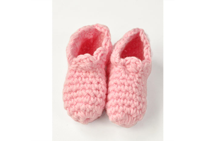 KNITTED BY NANA CROCHET BOOTIES - BLOSSOM
