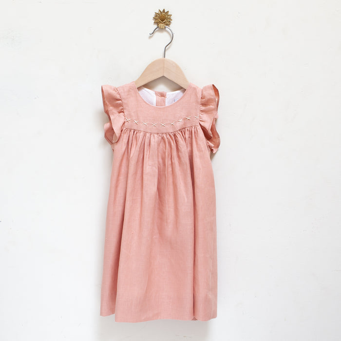 Tia Dress Blush Linen