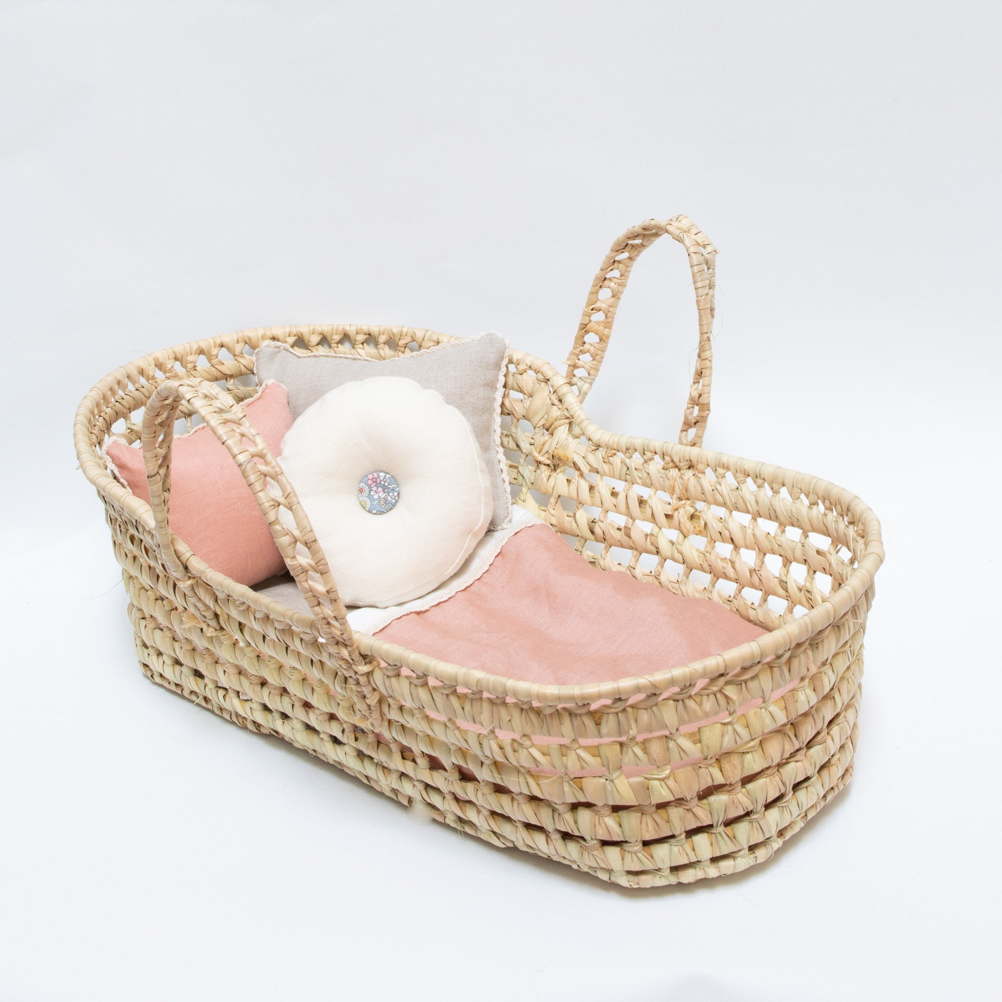 CHERUB DOLL BASSINET-BLUSH LINEN