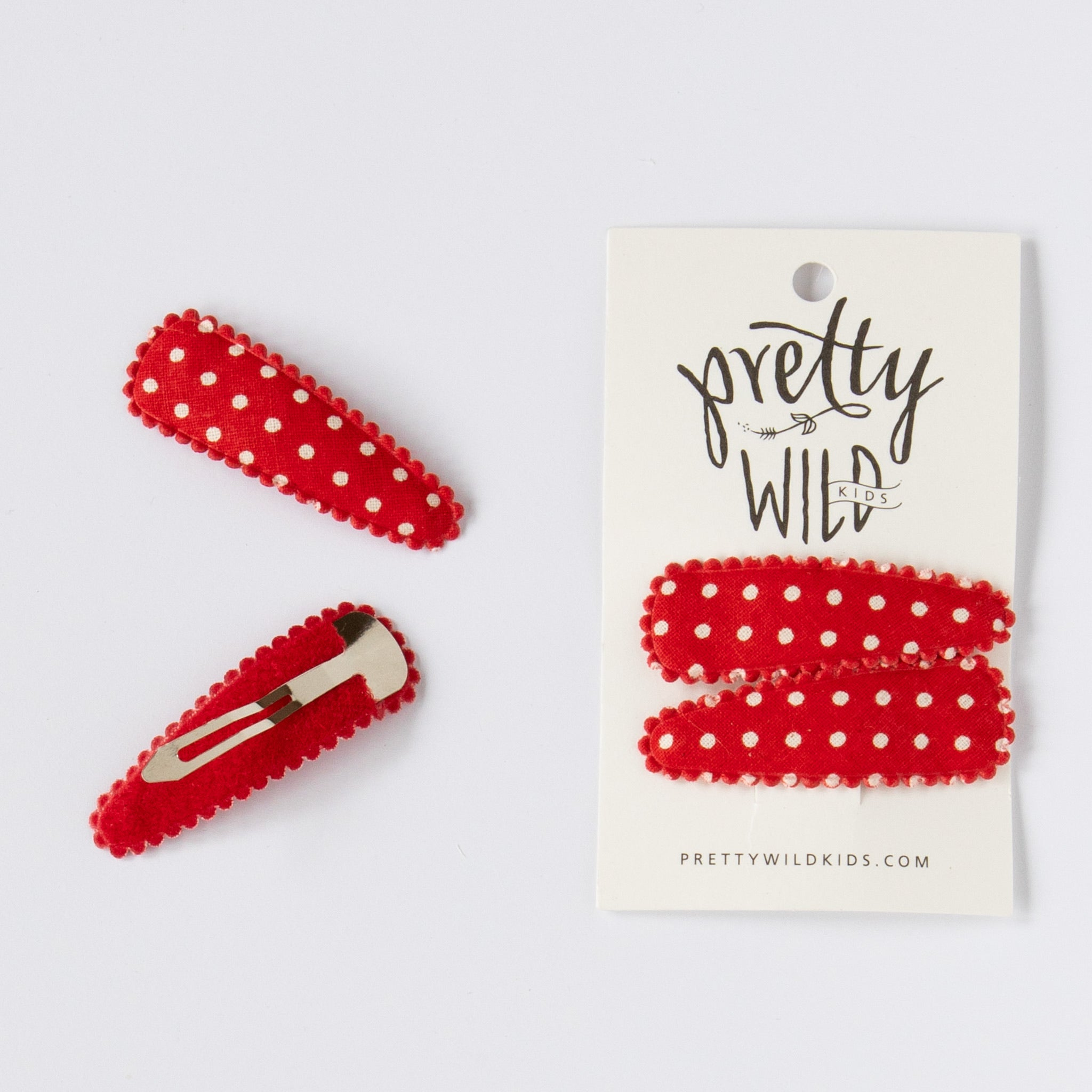 Polly Twin Snap Red Dot