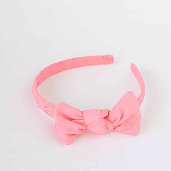 Zoe Headband with bow Light Pink