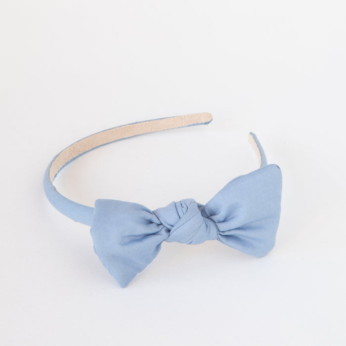 Zoe Headband with Bow Dusk Blue