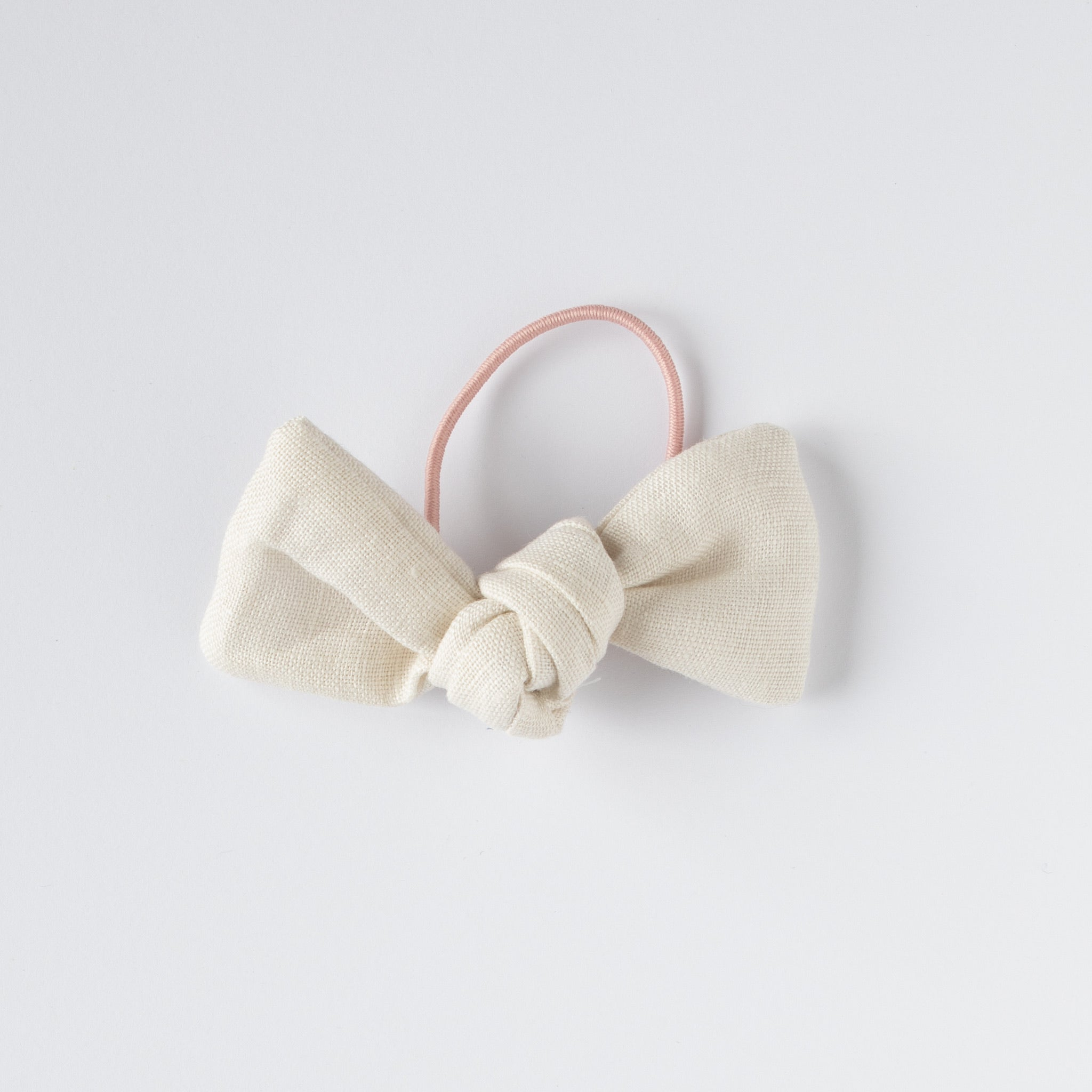 Barbara Hair Tie Natural Linen