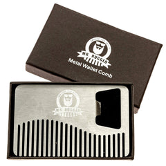 Mr Rugged Compact Stainless Steel Beard Comb