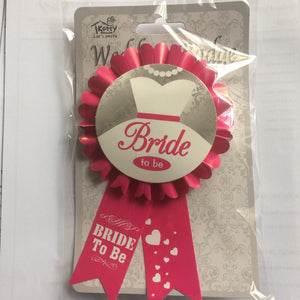 Bride to Be Badge - Miss Behaviour Bachelorette Parties