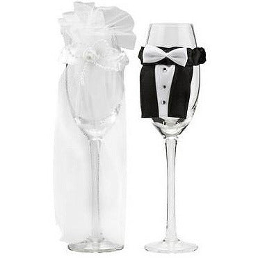 Bride and Groom Glass'wear' - Miss Behaviour Bachelorette Parties