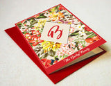 Summer Flowers Monogram Card