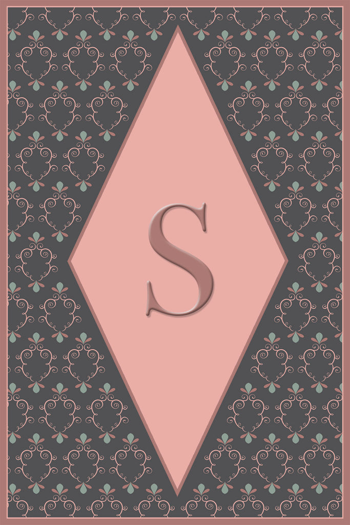 Center Diamond Monogram Card