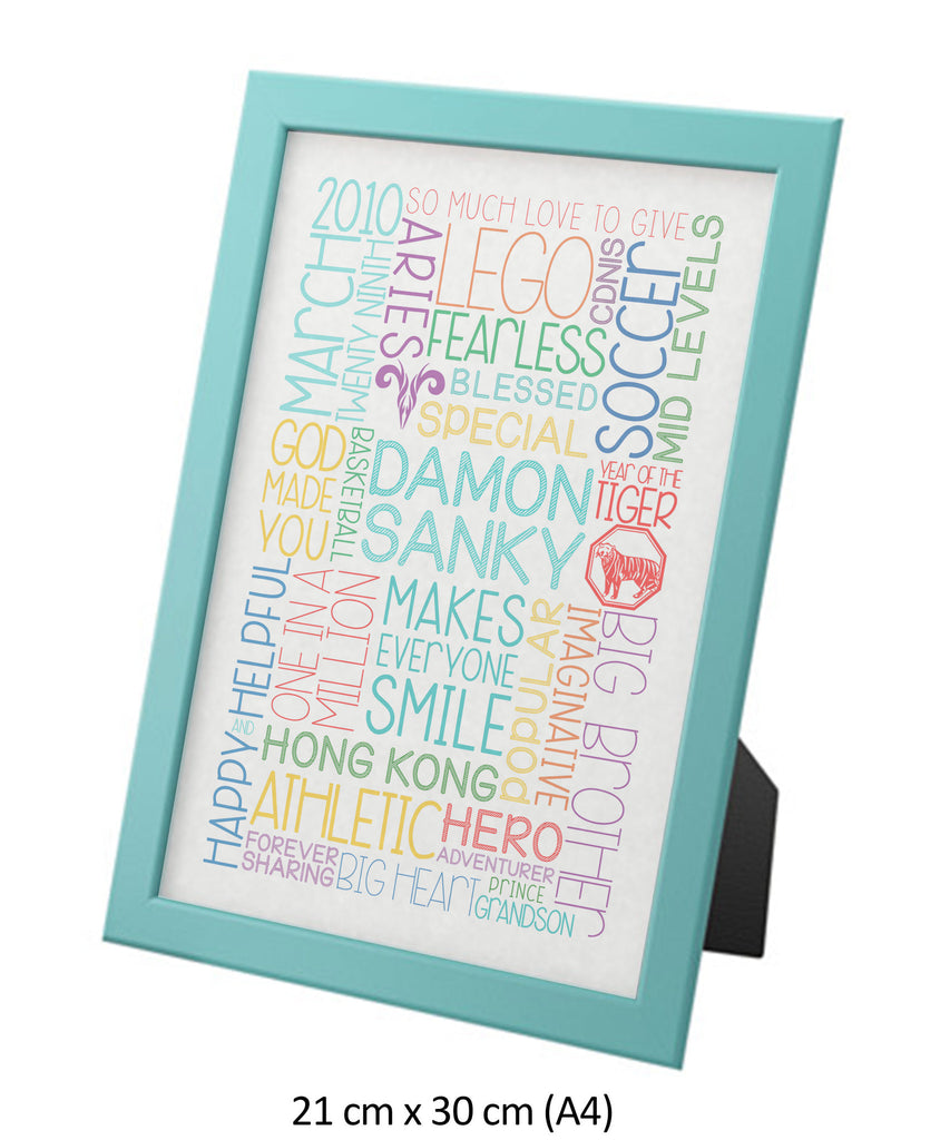 Childrens Word Art Frame