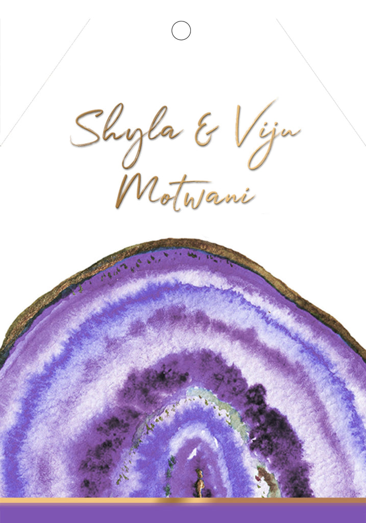 Purple Agate Gift Tag