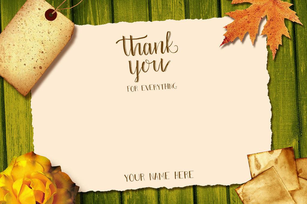 Scrapbook Thank You Note