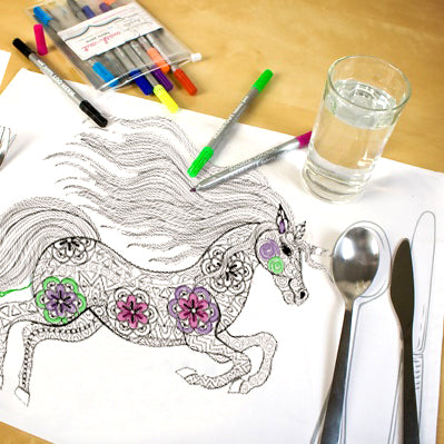 Animal Themed Doodle Placemats