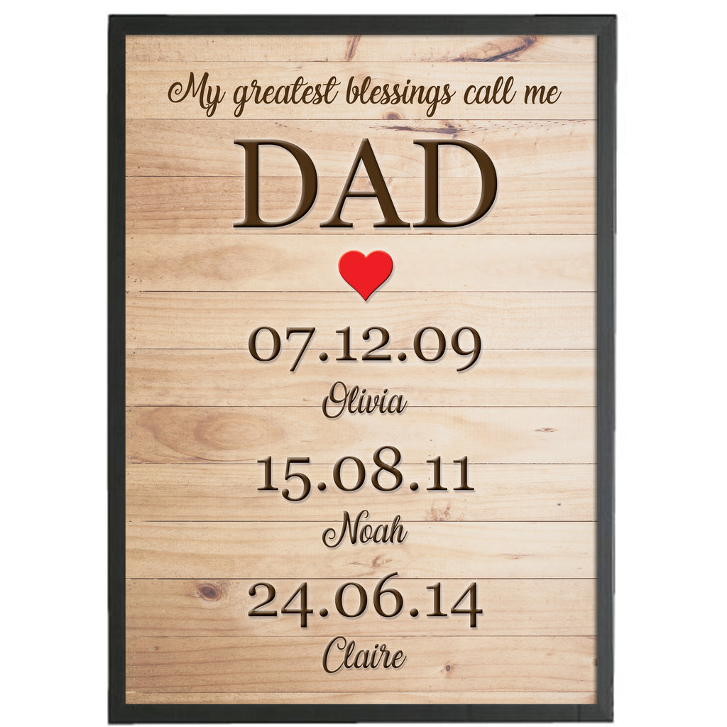Fathers Day Blessings Frame