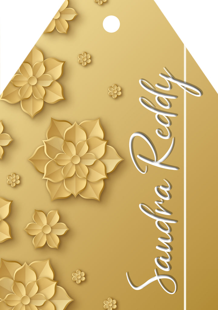 Gold Floral Elegance Gift Tags