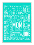 Mothers Day Rectangular Word Art Frame