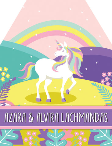 Unicorns and Rainbows Gift Tag