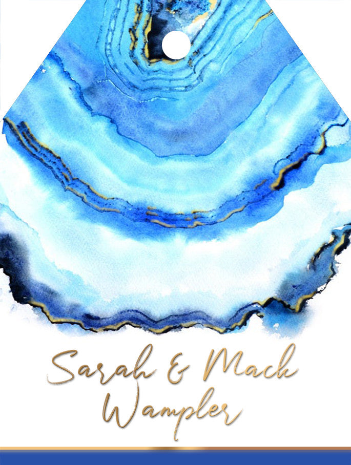 Blue Agate Gift Tag