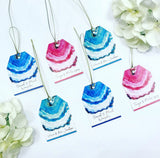 Blue Ink Gift Tag