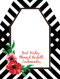 Flowers and Stripes Gift Tag