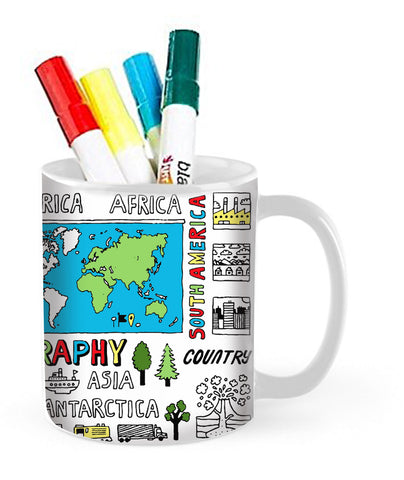 Around The World Doodle Mug