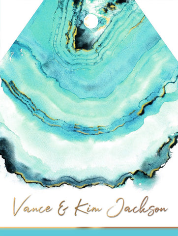 Turquoise Agate Gift Tag