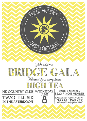 Bridge Gala Invitation