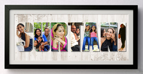 Name Frame with Photos