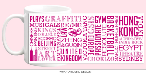 Custom Word Art Mug