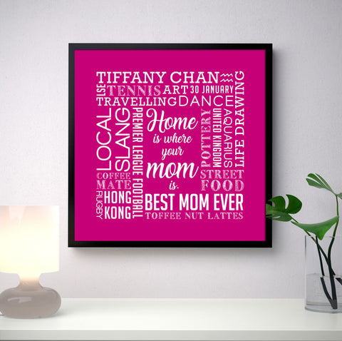 Mothers Day Square Word Art Frame