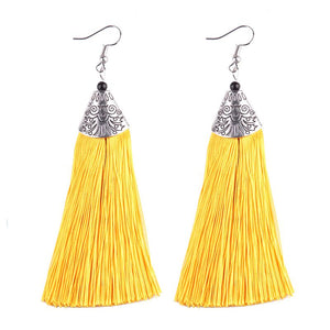 Open image in slideshow, Designer Tassel Earrings