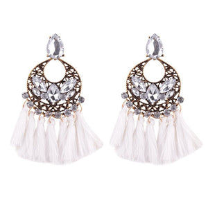 Open image in slideshow, Dazzling tassel earring