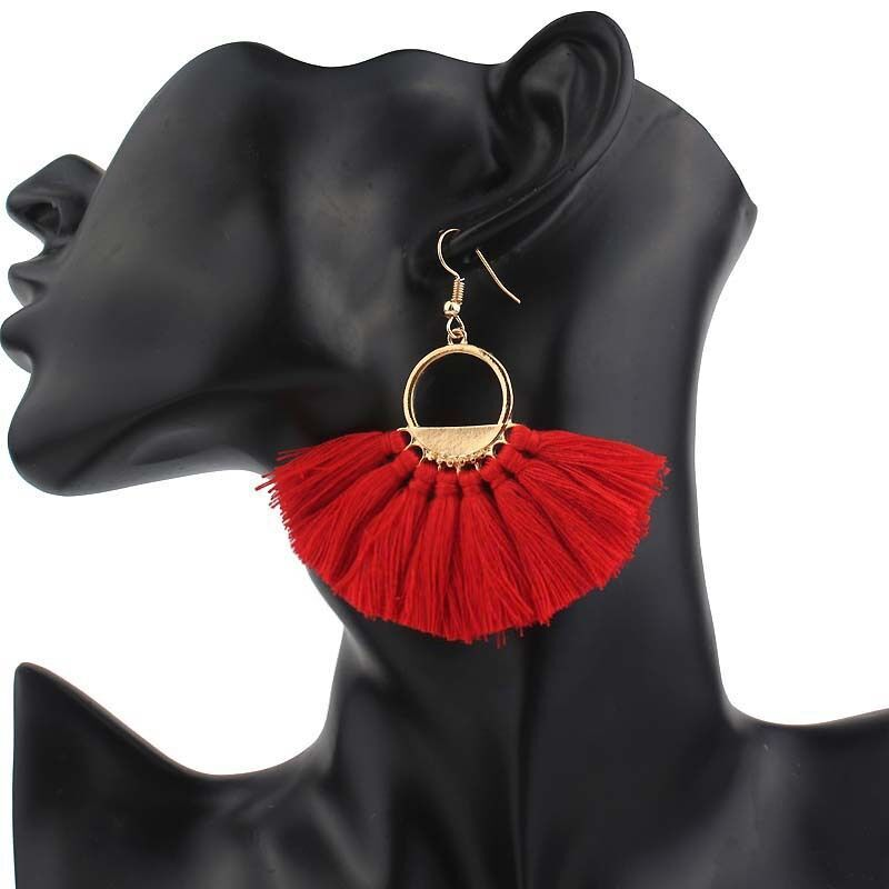 Moon Tassel Earrings