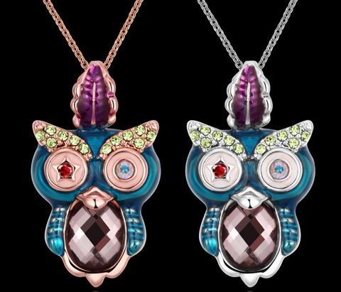 18K Gold plated owl necklace