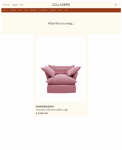 Song Armchair featured in what we're loving by Collagerie