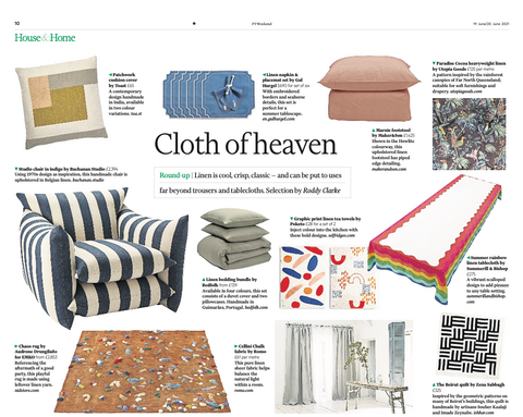 the Marnie footstool is featured the Financial Times among other beautiful pieces of furniture