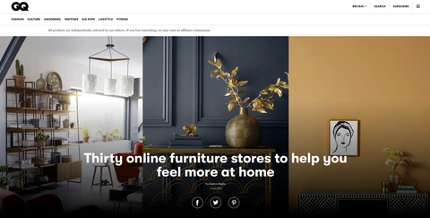 GQ introduces 30 online furniture stores to brighten your home