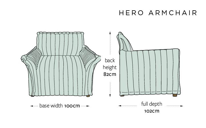 Hero DIMENSIONS UK - ARMCHAIR
