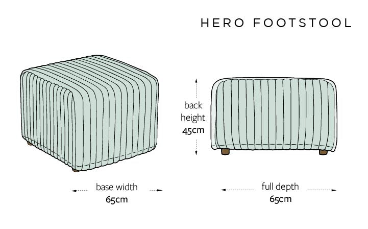 Hero DIMENSIONS UK - FOOTSTOOL